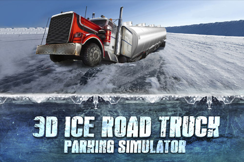 3D Ice Road Truck Parking Simulator